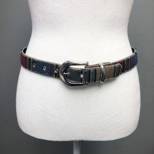 VTG 70s Elite California Multicolor Striped Belt
